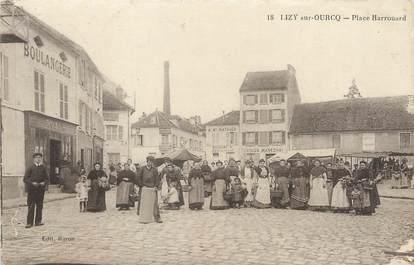 """/ CPA FRANCE 77 """"Lizy sur Ourcq, place Harrouard """""""