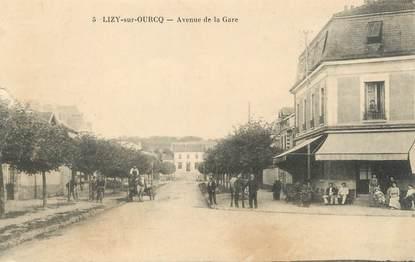 "/ CPA FRANCE 77 ""Lizy sur Ourcq, av de la gare """