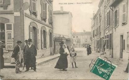 """CPA FRANCE 42 """"Feurs, rue Gambetta"""""""