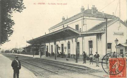 "CPA FRANCE 42 ""Feurs, la gare"""