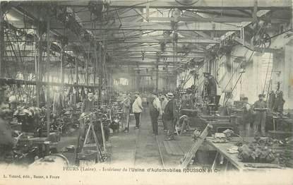 """CPA FRANCE 42 """"Feurs, Intérieur de l'Usine d'Automobiles ROUSSON et Cie"""""""