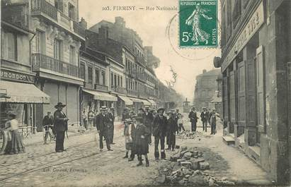 """CPA FRANCE 42 """"Firminy, Rue Nationale"""""""
