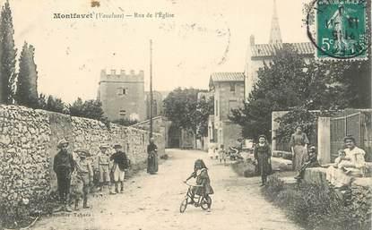 """CPA FRANCE 84 """"Montfavet, rue de l'Eglise"""""""