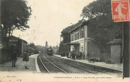 """CPA FRANCE 84  """"Mondragon, la gare"""" / TRAIN"""