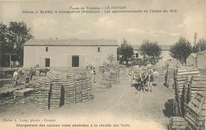 """CPA FRANCE 84  """"Joncquières, Usines J.Blanc"""""""