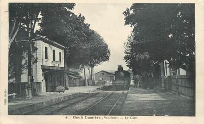 """CPA FRANCE 84   """"Goult Lumière, la gare"""" / TRAIN"""