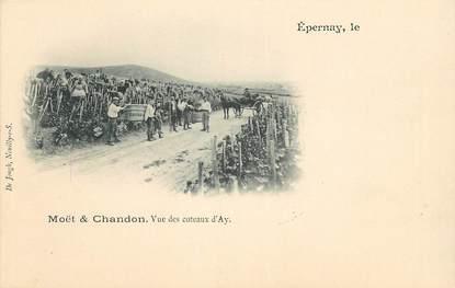 """CPA FRANCE 51 """"Epernay, Moët & Chandon, Vignobles, Vendanges, vue des coteaux d'Ay"""""""