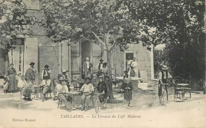 """CPA FRANCE 84   """"Taillades, la Terrasse du Café Moderne"""""""