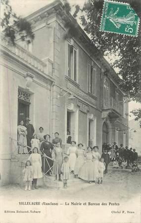 """CPA FRANCE 84   """"Villelaure, la mairie et bureau de poste"""""""