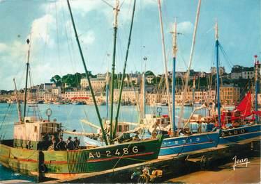 """/ CPSM FRANCE 29 """"Audierne, bateaux à quai"""""""