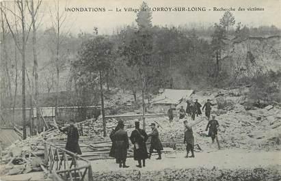 """/ CPA FRANCE 77 """"Le village de Lorroy, recherche de victimes"""" / INONDATIONS"""