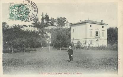 """CPA FRANCE 69 """"Cailloux sur Fontaines, la mairie"""""""
