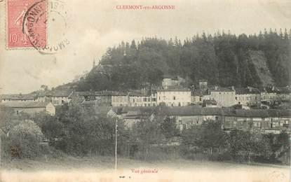 """CPA FRANCE 55 """"Clermont en Argonne, vue générale"""""""