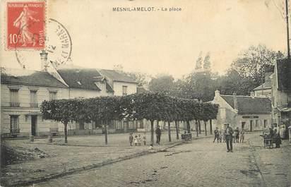 "/ CPA FRANCE 77 ""Mesnil Amelot, la place"""