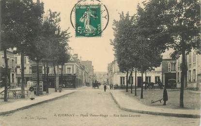 """CPA FRANCE 51 """"Epernay, Place Victor Hugo, rue Saint Laurent"""""""