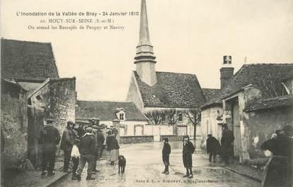 "/ CPA FRANCE 77 ""Mouy sur Seine"" / INONDATIONS"