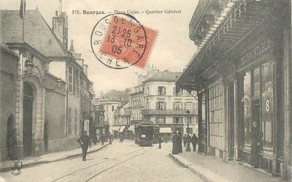 """CPA FRANCE 18 """"Bourges, Place Cujas"""" / TRAMWAY"""