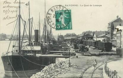 """CPA FRANCE 64 """"Bayonne, le quai de Lesseps"""""""
