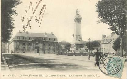 "CPA   FRANCE 14 ""Caen, la place Alexandre III"""