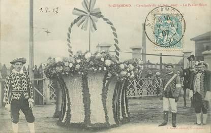 "CPA FRANCE 42 ""Saint Chamond, cavalcade du 30 juin 1907"""