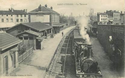 "CPA  FRANCE 42 ""Saint Etienne, la Terrasse"" / TRAIN"