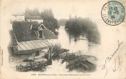 """/ CPA FRANCE 77 """"Moret sur Loing, les vieux moulins vus du pont"""""""