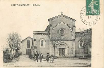 """CPA  FRANCE 13 """"Saint Victoret, L'Eglise"""""""