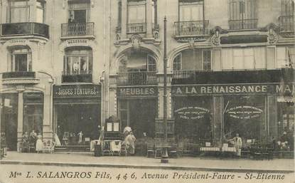 cpa france 42 saint etienne avenue pr sident faure magasin a la renaissance meubles 42. Black Bedroom Furniture Sets. Home Design Ideas
