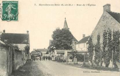 """/ CPA FRANCE 77 """"Marolles en Brie, rue de l'église"""""""