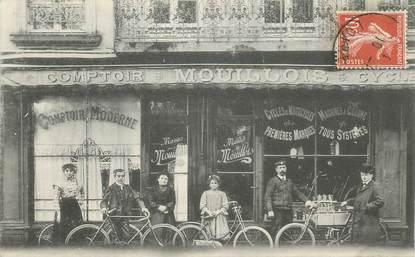 """CPA  FRANCE 42 """"Saint Etienne, Commerce de cycles et motos, le comptoir Mouillois"""""""
