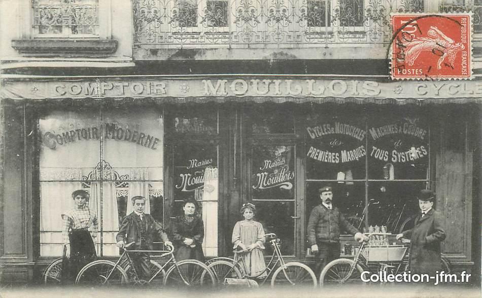 Cpa france 42 saint etienne commerce de cycles et motos le comptoir mouillois 42 loire - Comptoir des cotonniers st etienne ...