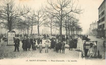"""CPA  FRANCE 42 """"Saint Etienne, Place Chavanelle"""""""