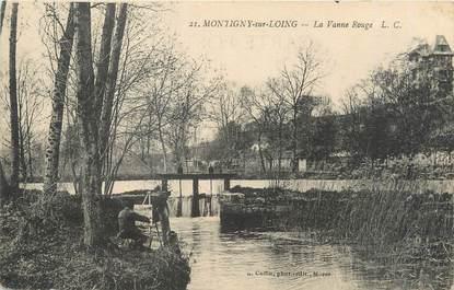 """/ CPA FRANCE 77 """"Montigny sur Loing, la Vanne rouge"""""""