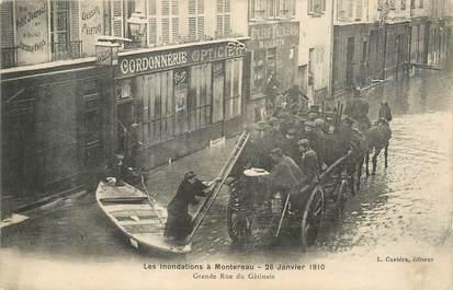 """/ CPA FRANCE 77 """"Montereau, Grande rue du Gâtinais"""" / INONDATIONS"""