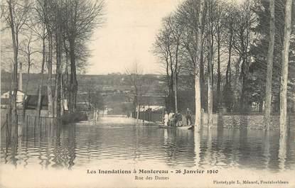 """/ CPA FRANCE 77 """"Montereau, rue des Dames"""" / INONDATIONS"""