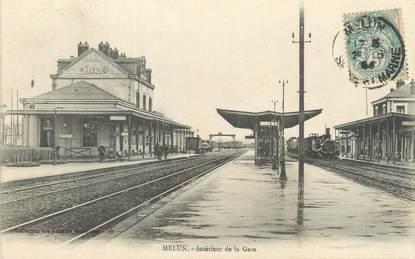 """/ CPA FRANCE 77 """"Melun, intérieur de la gare """""""
