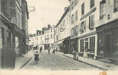 "/ CPA FRANCE 77 ""Melun, la rue Carnot"""