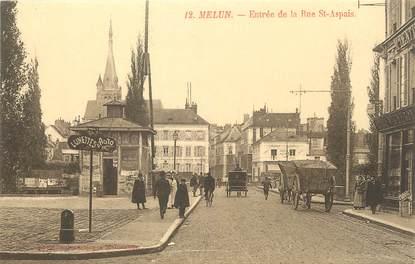"""/ CPA FRANCE 77 """"Melun, entrée de la rue Saint Aspais"""""""