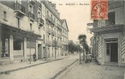 "/ CPA FRANCE 77 ""Melun, rue Dajot"""