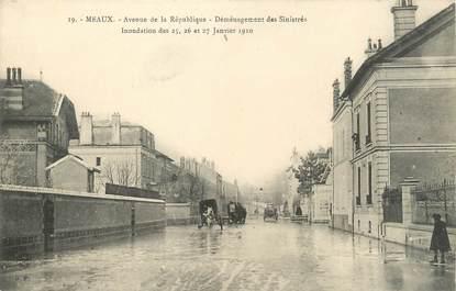 """/ CPA FRANCE 77 """"Meaux, av de la République"""" / INONDATIONS"""