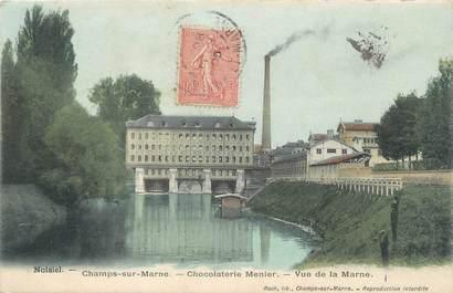 """/ CPA FRANCE 77 """"Noisiel, champs de Marne, Chocolaterie Menier"""""""