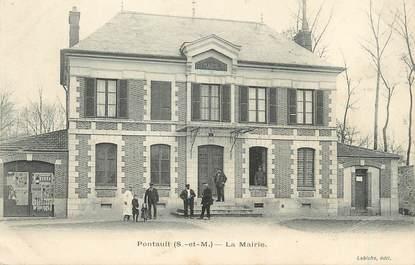 "/ CPA FRANCE 77 ""Pontault, la mairie"""