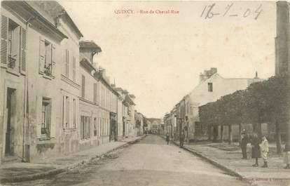 """/ CPA FRANCE 77 """"Quincy, rue de Cheval rue"""""""
