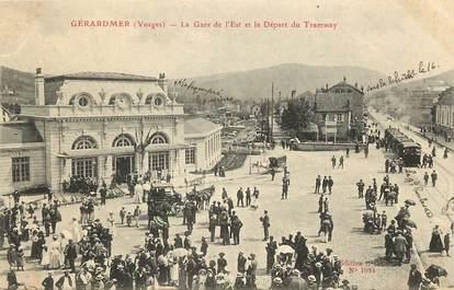 """CPA FRANCE 88 """"Gérardmer, la gare de l'Est et le départ du tramway"""""""