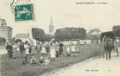 "/ CPA FRANCE 77 ""Saint Siméon, la place"""