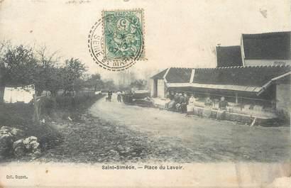 """/ CPA FRANCE 77 """"Saint Siméon, place du Lavoir"""""""