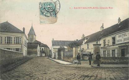 "/ CPA FRANCE 77 ""Saint Soupplets, grande rue"""