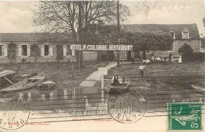 "/ CPA FRANCE 77 ""Seine Port, restaurant P. Colombe"""