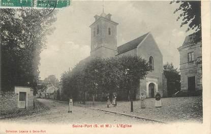 "/ CPA FRANCE 77 ""Seine Port, l'église"""