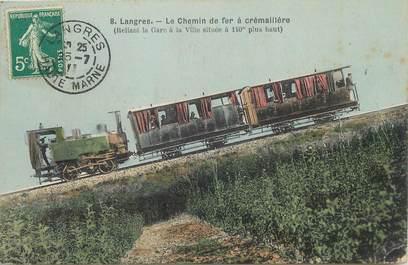 """CPA FRANCE 52 """"Langres, le chemin de fer à crémaillère"""""""